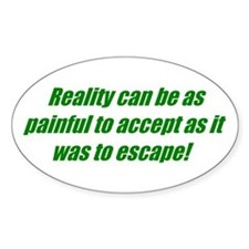 Escape Reality Oval Decal
