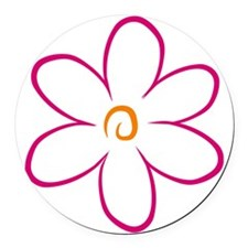 flower Round Car Magnet