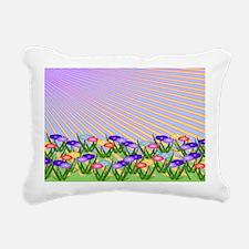 Spring Flowers in Sunshi Rectangular Canvas Pillow