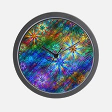 Fractal Spring Swatch Wall Clock