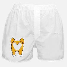 Happy corgi wiggle puppy dog butt Boxer Shorts