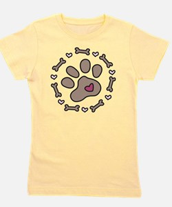 Dog Bone Circle Girl's Tee