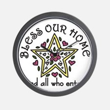 Bless Our Home Wall Clock