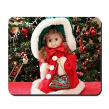 Christmas Caroling Doll I Mousepad