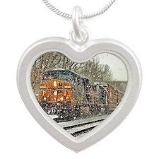 Winter Wonderland Silver Heart Necklace
