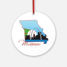 Saint Louis Missouri Round Ornament