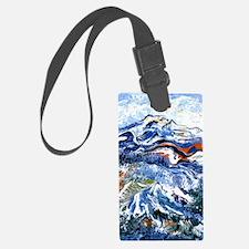 Abstract Mt Rainier Luggage Tag