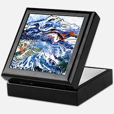 Abstract Mt Rainier Keepsake Box