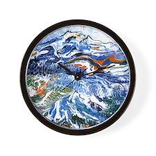 Abstract Mt Rainier Wall Clock