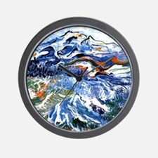 Abstract Mt Rainier Wall Clock