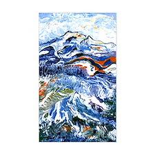 Abstract Mt Rainier Decal