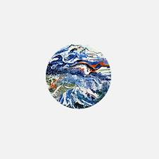 Abstract Mt Rainier Mini Button