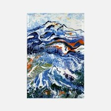 Abstract Mt Rainier Rectangle Magnet