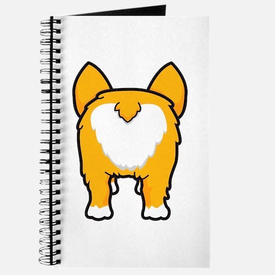 Happy corgi wiggle puppy dog butt Journal