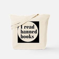 bannedbooksbutton Tote Bag