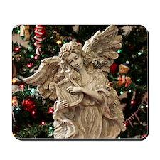 Christmas Angel Statue Mousepad