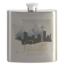 Seatle  Washington Flask