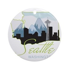 Seatle  Washington Round Ornament