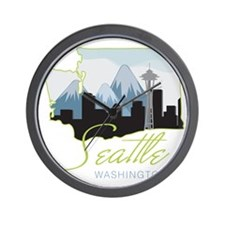 Seatle  Washington Wall Clock