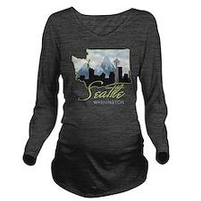 Seatle  Washington Long Sleeve Maternity T-Shirt