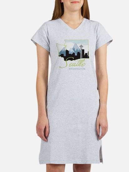 Seatle  Washington Women's Nightshirt