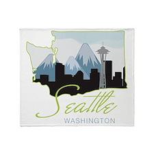 Seatle  Washington Throw Blanket
