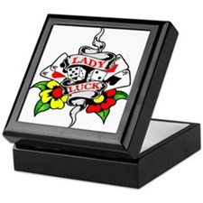 Lady Luck Tattoo Keepsake Box
