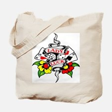 Lady Luck Tattoo Tote Bag