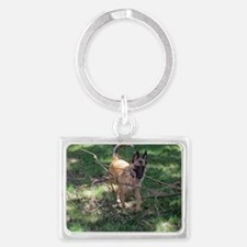 Toes the working dog Landscape Keychain