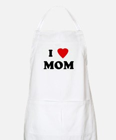 I Love MOM BBQ Apron