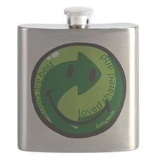 recycle smiley Flask
