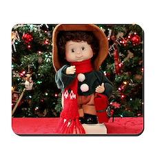 Christmas Caroling Doll II Mousepad