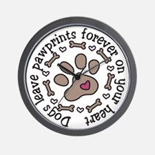 Pawprints Wall Clock