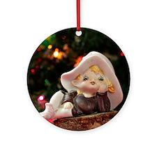 Christmas Elf I Round Ornament
