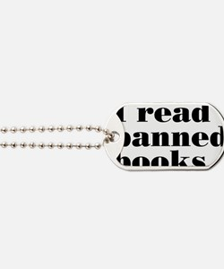 bannedbooksrectangle Dog Tags
