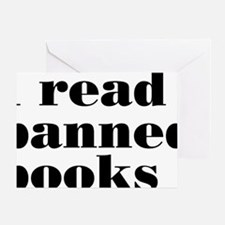 bannedbooksrectangle Greeting Card
