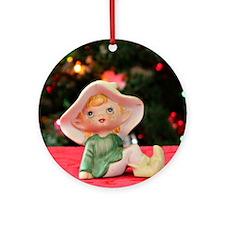 Christmas Elf II Round Ornament