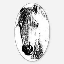 Horse Love 2 Sticker (Oval)
