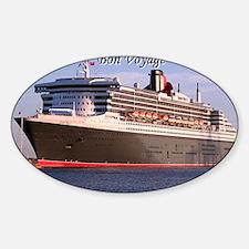 Bon Voyage: cruise ship 2 Sticker (Oval)