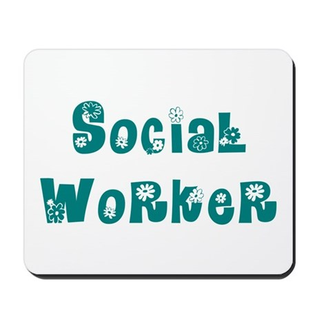 Social Worker Floral Mousepad