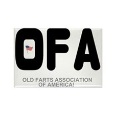 OLD FARTS ASSOCIATION OF AMERICA Rectangle Magnet