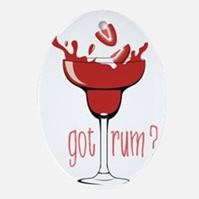 Got Rum? Oval Ornament