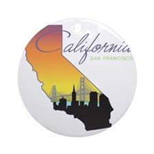 San Francisco California Round Ornament