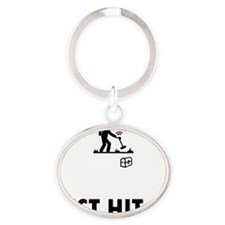 Metal-Detecting-ABQ1 Oval Keychain