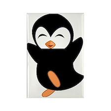 Little Ninja Penguin Rectangle Magnet