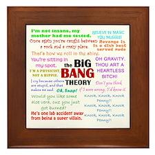 Big Bang Theory Quotes Framed Tile