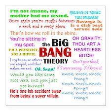 """Big Bang Theory Quotes Square Car Magnet 3"""" x 3"""""""