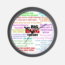 Big Bang Theory Quotes Wall Clock