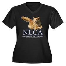 NLCA Logo-Macy Women's Plus Size V-Neck Dark T-Shi