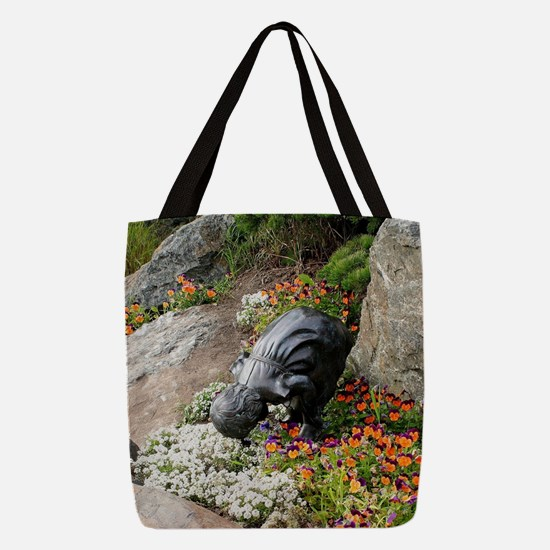 Rock garden memorial to childre Polyester Tote Bag